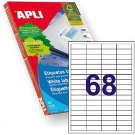 Etiquetas adhesivas apli 01282 tamaño 48,5x169 mm