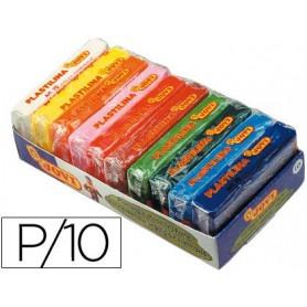 Plastilina jovi -bandeja con 10 paquetes colores