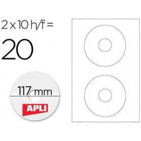 Etiqueta adhesiva apli 10603 cd-rom 117 mm