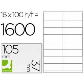 Etiqueta adhesiva q-connect kf10654 tamaño 105x37