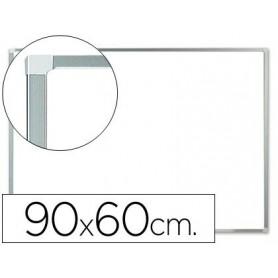 Pizarra blanca ALUMINIO  lacada magnetica 90x60