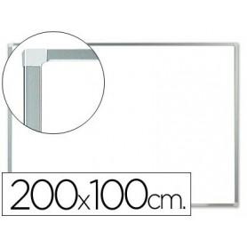 Pizarra blanca ALUMINIO lacada magnetica 200x100